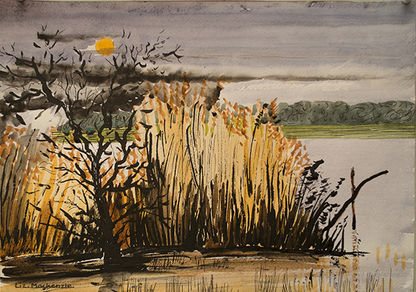 Hawthorn Tree and Reed Beds